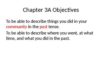 Realidades 2 Chapter 3A Introduction