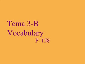 Realidades 2 Chapter 3B Vocabulary PowerPoint