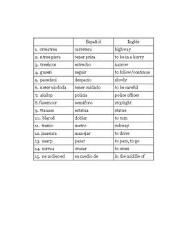 Realidades 2 Chapter 3B Word Scramble