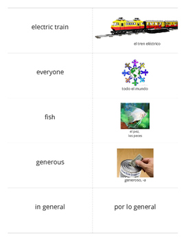 Realidades 2 Chapter 4A Flashcards - Large