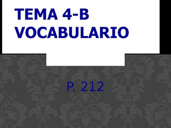Realidades 2 Chapter 4B Vocabulary PowerPoint