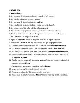 Realidades 2, Chapter 6. Tema 6. A ver si recuerdas. Quiz / Activity