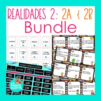 Realidades 2 Chapters 2A and 2B Activities BUNDLE