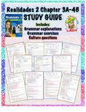 Realidades 2 Chapters 3A-4B Review Sheet