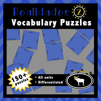 Realidades 2 Spanish Vocabulary Puzzles (Entire Textbook)