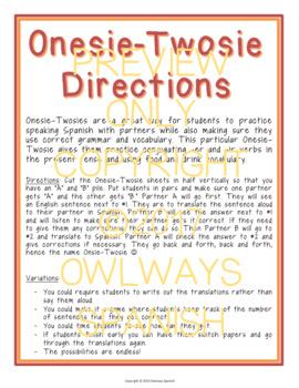 Realidades 2 - Para Empezar - Onesie Twosie - Spanish Interrogatives + Present