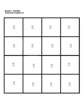 Realidades 2 Puzzle Blocks Chapter 2A