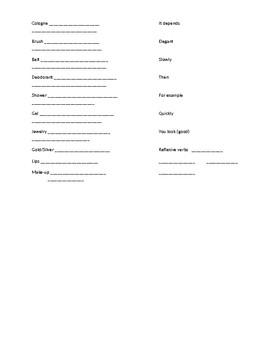 Realidades 2 Tema 2A Note sheet - como te preparas