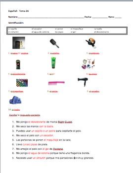Realidades 2 Tema 2A Noun Practice Warm-up/Worksheet