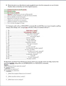 Realidades 2 Tema 7A Vocabulary and Grammar Practice Worksheet