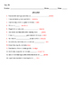 Realidades 2 Tema 7B Vocabulary Warm-up Worksheet