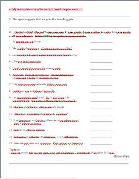 Realidades 2 Tema 8A Vocabulary and Grammar Practice Worksheet