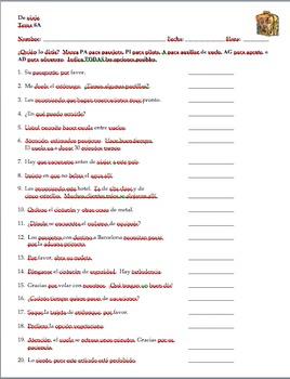 Realidades 2 Tema 8A Warm-up:  Who would say...?