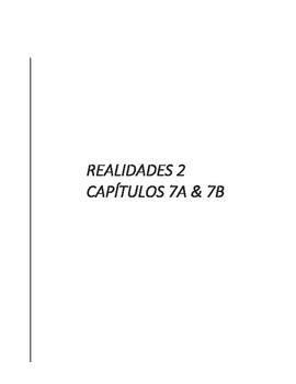 Realidades 2 - Test de capítulos 7A & 7B