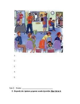 Realidades 2 Unit 5 test (5A,B) imp., pret. irregulars, imp. progressive
