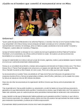 Realidades 2 Unit 6 El concurso de belleza