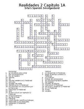 Realidades 2 Vocabulary Crossword Bundle by Srta's Spanish ...