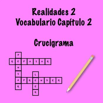 Realidades 2 Vocabulary Crossword Capítulo 2