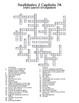 Realidades 2 Vocabulary Crossword Capítulo 7