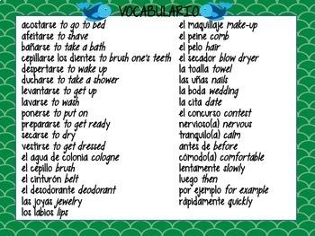 Realidades 2 Vocabulary ¡Pesca! Game BUNDLE #1 (Para Empezar-4B)