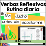 Spanish 2 word search & sentence unscramble- reflexive verbs, shopping