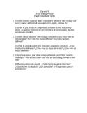 Realidades 2 final writing prompts - Spanish II Essay