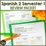 Realidades Spanish 2 semester 1 review packet PE- 4A