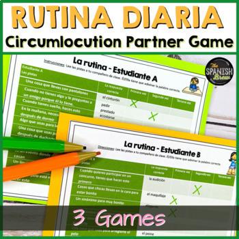 "Realidades Spanish 2 2A 2B Bundle: vocabulary circumlocution game ""tres veces"""