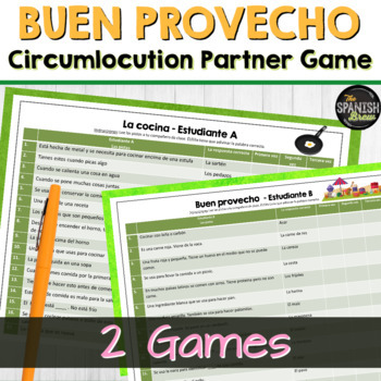 Realidades Spanish 2 7A vocab circumlocution game- comida