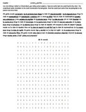 Realidades 2A Reading - Wordsearch - Translation - Spanish 1 Horario - Escuela