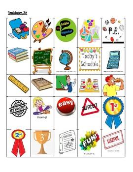 Realidades 2A Teacher vs. Student Vocabulary Game