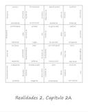 Realidades 2A Vocab Puzzle (Spanish 2)