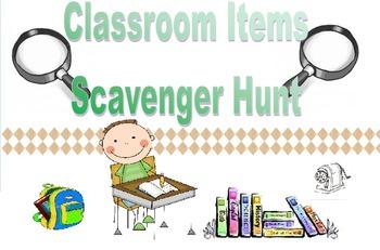 Spanish Classroom Items Scavenger Hunt (Realidades 2B)