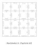 Realidades 2B Vocab Puzzle (Spanish 2)