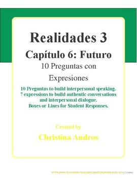 Realidades 3 - Capítulo 6 - 10 Preguntas - Futuro