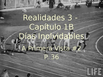 Realidades 3 Ch 1B powerpoint for vocab