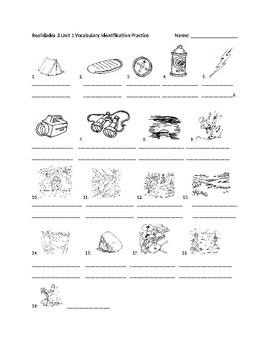 Realidades 3 Chapter 1A Vocabulary Identification Practice/Quiz