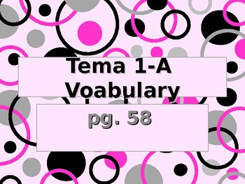 Realidades 3 Chapter 1 Vocabulary Powerpoint