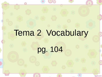 Realidades 3 Chapter 2 Vocabulary PowerPoint