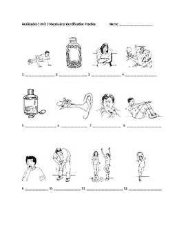 Realidades 3 Chapter 3 Vocabulary Identification Practice/Quiz