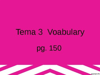 Realidades 3 Chapter 3 Vocabulary PowerPoint
