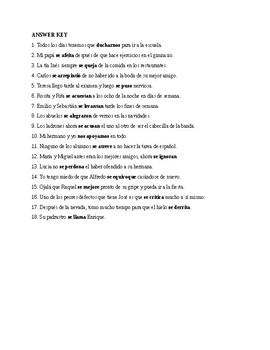 Realidades 3, Chapter 4. Reflexive verbs. Quiz / Activity