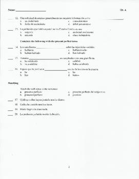 Spanish 3 (Realidades) Chapter 5 test