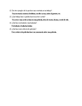 Realidades 3, Chapter 6. A ver si recuerdas. Quiz / Activity #1