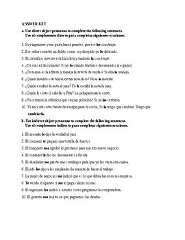 Realidades 3, Chapter 6. Direct and Indirect Object ...