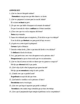 Realidades 3, Chapter 6. Future and vocabulary. Quiz / Activity #1