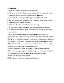 Realidades 3, Chapter 7. Sino / pero / si no. Quiz / Activity