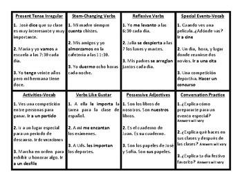 Realidades 3 Chapter PE Review