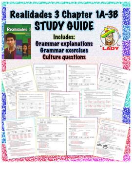 Realidades 3 Chapters 1A-3B Review Sheet