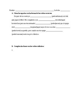 Realidades 3 Para Empezar Grammar Quiz